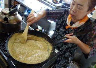 【天ぷら 変わり塩】 群馬館林に行って、ゴーヤ塩 を作ってきた。